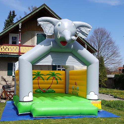 Huepfburg Elefant gross mieten muenchen1